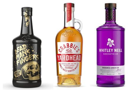 £22 for a four-pack of Crabbies Ginger Beer from Sadler's Peaky Blinder with a 70cl bottle of Dead Man's Fingers Spiced Rum, Crabbie's Yardhead Single Malt Scotch Whisky or Whitley Neill Rhubarb and Ginger Gin