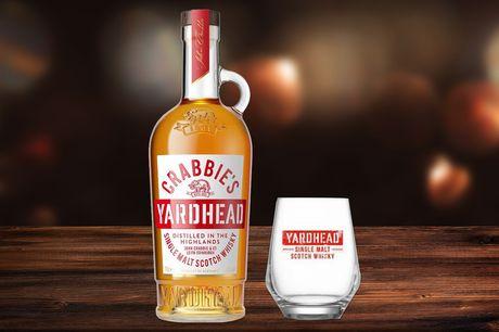 £20for a 70cl bottle ofCrabbie's Yardhead Single Malt Scotch Whisky from Sadler's Peaky Blinder Distillery including a branded whisky glass