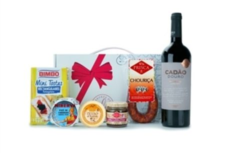 CABAZ DIONÍSIO da Casa da Prisca: Caixa Sabores de Excelência Laço Vermelho composta por 6 Deliciosos Produtos por 22.50€. PORTES INCLUÍDOS.