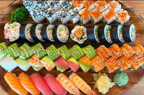 Lækre menuer - Takeaway på Frederiksberg! - Dealen er på enten 38 stk. sushi eller 56 stk. sushi, værdi op til kr. 713,-