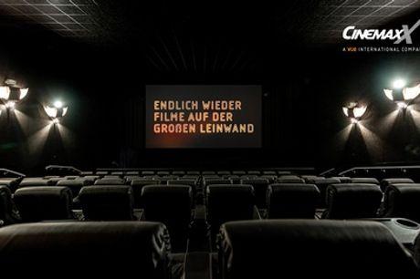 2 oder 5 CinemaxX Kinogutscheine für 2D-Filme in allen teilnehmenden CinemaxX Kinos (bis zu 49% sparen*)