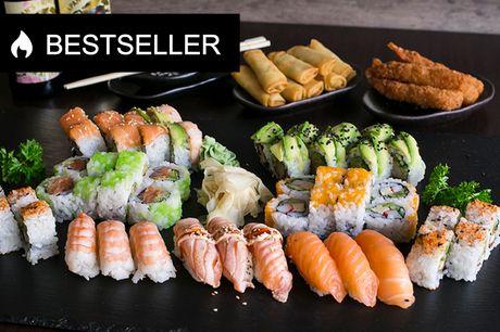 Sushimenu fra Akiba Sushi. Til de dage, hvor det skal være nemt og lækkert