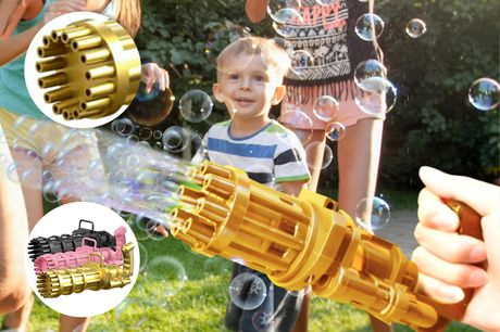 From £7.99 for one bubble gun toy machine with eight, 15 or 18 holes, or from £12.99 for two from Forefront Trading - save up to 80%