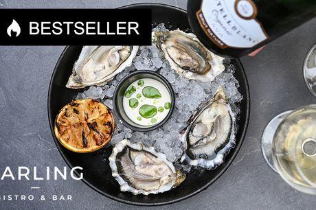Østerssmagning og bobler. Hos Darling Bistro & Bar! Inkl. Cava og 4 forskellige østers