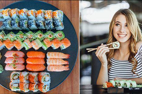 Super rabat på takeaway sushi - Sæt takeaway sushi på menuen, vælg mellem 36 stk. eller 49 stk. værdi op til kr. 620,-