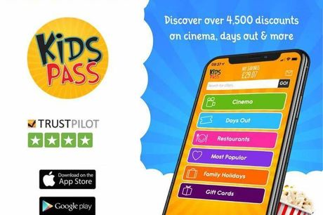 £27 instead of £39.99 for a 12-month Kids Pass to 1000s of attractions, cinemas and restaurants from Kids Pass - save 32%