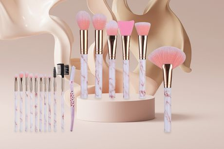 £10.99 instead of £69.99 for an 18-piece makeup accessories and synthetic brushes set from Wishwhooshoffers - save 84%