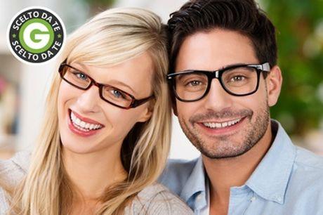 Uno o 2 occhiali da vista completi da 29,90 € o un occhiale premontato da lettura a 8,90 €