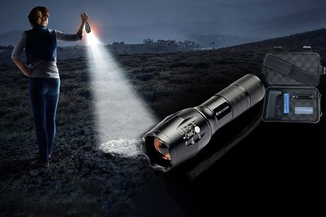 £5.99 instead of £29.99 for an LED waterproof adjustable torch, or £10.99 for a light and case from Forefront Trading - save up  to 80%