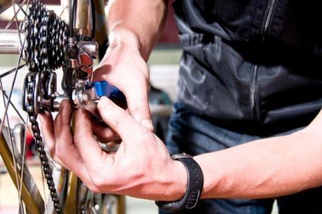 Fahrradplatten-Schnellreparatur inkl. neuem Schlauch für 1 oder 2 Reifen bei der Fahrradstation (bis zu 64% sparen*)