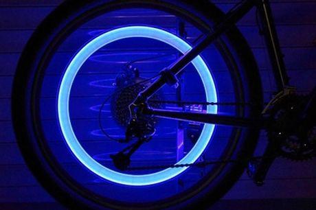 1 of 2 sets van 2 led-ventielen voor fiets-, motor- of autowielen, incl. verzending