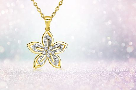 £7.99 instead of £49.99 for a golden flower crystal necklace from Gemnations.com - save 84%