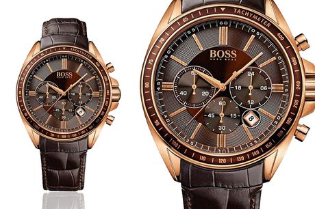 £129 instead of £379 for a Hugo Boss 1513093 men's Chronograph watch with croc effect embossed strap from Fashion Timepieces - save 63%