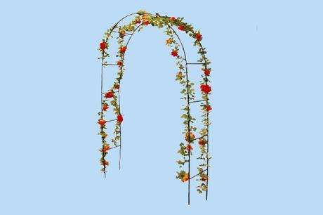 Stalen rozenboog Geschikt voor rozen of klimplanten<br /> Optimale ondersteuning van de groei<br /> Afmeting: 140 x 36 x 240 cm