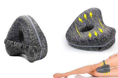 Aflastende knæpude i memoryskum  . Gør noget godt for din krop med denne aflastende knæpude i memoryskum, der sikrer dig en bedre nattesøvn.