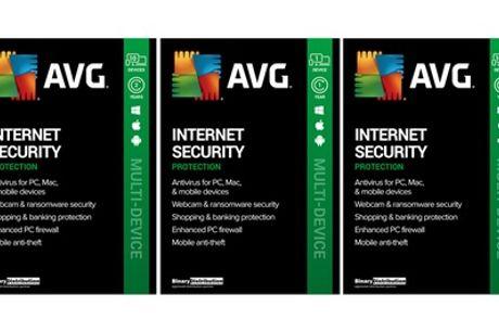AVG Internet Security 2021 para 1 o 10 dispositivos durante 1 o 2 años (envío gratuito)