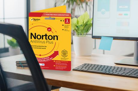 £7.99 instead of £19.99 for one year of Norton AntiVirus Plus on one device for one year from Download Buyer - save 60%
