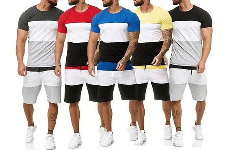 £14.99 instead of £29.99 for a men's t-shirt and shorts co-ord from Domo Secret - save 50%