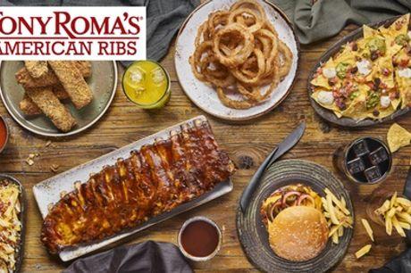 Menú Basic o Prémium para 2 o 4 personas en el restaurante Tony Roma's