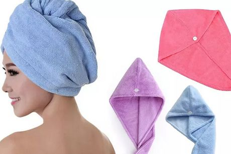 £2.49 instead of £11.99 for a microfibre hair towel, £4.49 for a pack of two towels, £6.49 for a pack of three towels from Huundo-p - save up to 79%