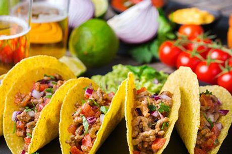 Mexicansk på Vesterbro - All you can eat! - MUMS - Så skal der hygges med lækker TACO FIESTA. Dealen er gældende for 1 person. Værdi kr. 189,-
