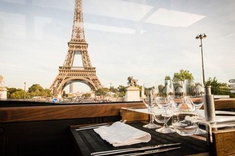 Déjeuner ou dîner gastronomique en 4 ou 6 étapes avec visite de Parispour 2 personnes à bord du Bustronome