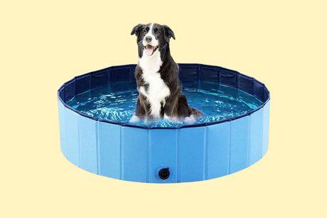 Hondenzwembad 120 cm Biedt de ideale verkoeling<br /> Enkel uit te vouwen en te vullen<br /> Geschikt voor de tuin, balkon of terras