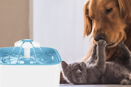 Dieren drinkfontein + 4 filters Altijd fris water voor je huisdier<br /> Maakt weinig tot geen geluid<br /> Geschikt voor honden en katten