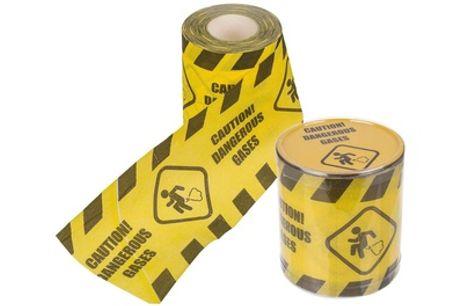 1 o 2 rollos de papel higiénico Caution! Dangerous gases (envío gratuito)