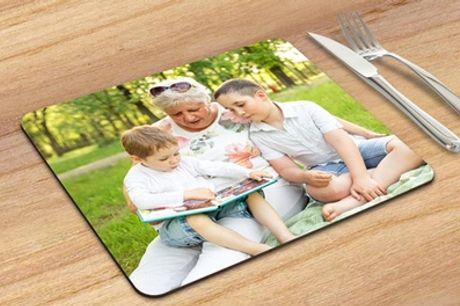 Ronde of rechthoekige placemat met eigen foto via Fotoproducten