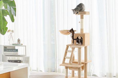 Katten krabpaal XL De Max Pets krabpaal XL is de plek voor jouw kat om in te relaxen, iedereen in de gaten te houden van boven, te spelen en te krabben aan het sisal touw.