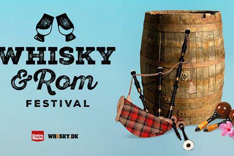 Kom og smag på mere end 150 forskellige typer rom og whisky, når dørene åbner op til Whisky & Rom Festival i hjertet af København den 29. oktober 2021.