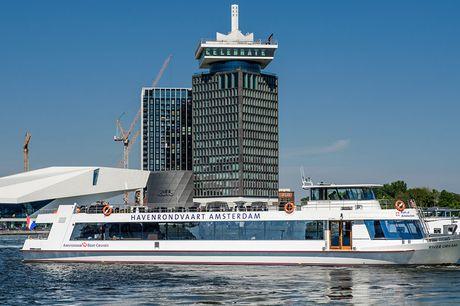 Amsterdam Skyline Cruise Stap aan boord van de nieuwe Amsterdam Skyline Cruise en geniet! Je vaart 75 minuten lang langs de Skyline van Amsterdam vanaf het IJ en ontdekt de meest iconische plekken.