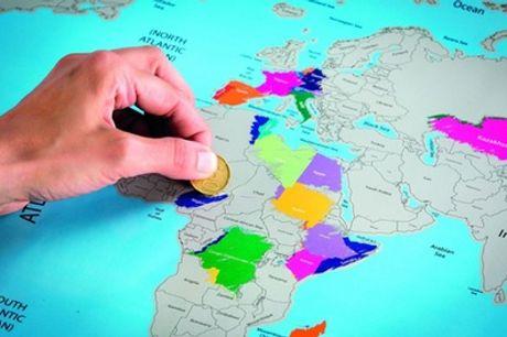 Mapa del mundo en color XXL rascable