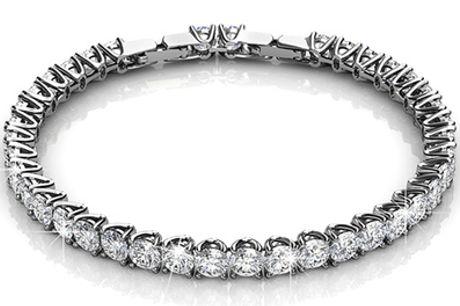 1 of 2 Venus-armbanden versierd met Swarovski®-kristallen, incl. verzending