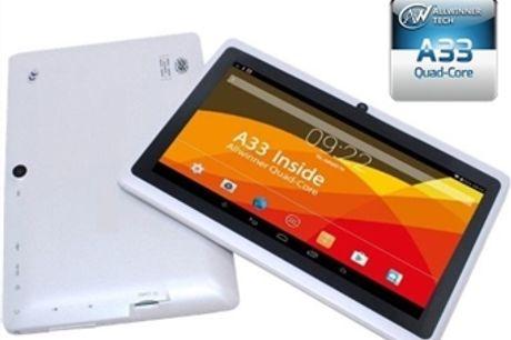 """Tablet 7"""" Android Allwinner com Câmera Dupla, Quad-Core, Bluetooth, Wi-Fi e USB por 35€. ENVIO IMEDIATO. PORTES INCLUIDOS."""