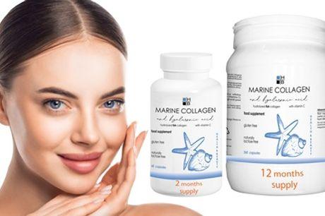 Voedingssupplement met marine collageen peptiden en hyaluronzuur, tot 360 capsules HB Health & Beauty