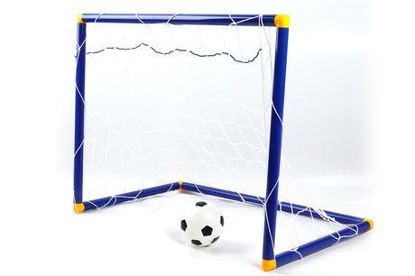 Pelota y red de fútbol para niños. ¡Meterás un gol con la oferta de hoy!Te ofrecemos unapelota y red de fútbol para niñospor 20,99 €, ahorrándote un76 % de descuento sobre el precio de  Magic Trend de 87,99 € (correcto al 1.8.20).DimensionesTamaño comp