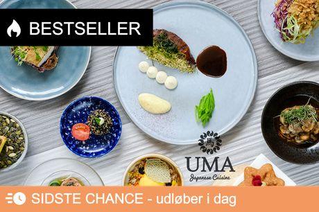 UMA: Jubilæumsmenu m. 9 serveringer. Besøg den japanske fusionsrestaurant i hjertet af KBH