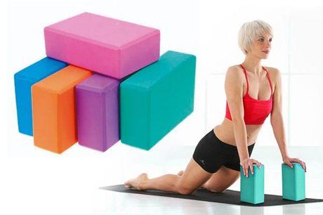 2 bloques para yoga. ¡Yo-gano con esta oferta!Te ofrecemos 2 bloques para yogapor 4,99 € .ColoresRosaAzulPúrpuraNaranjaAzul FrutalVerde