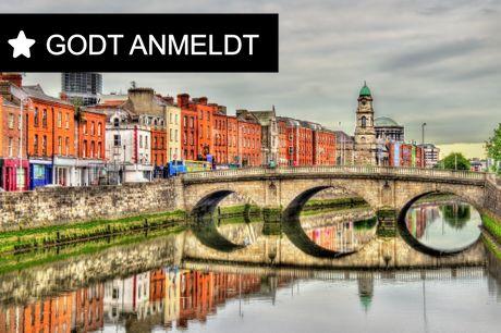 Rejse til Dublin på 4-stjernet hotel. Bo i hjertet af utrolige Dublin på 4* Boutique Hotel. Rejsen er inkl. fly, 3-4 overnatninger med morgenmad samt en 24-timers-billet til sightseeing-bus. Fly fra BLL og CPH fra oktober til april.