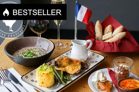 3-retters menu på franske Cocorico. Klassisk fransk bistro med et super tilbud!