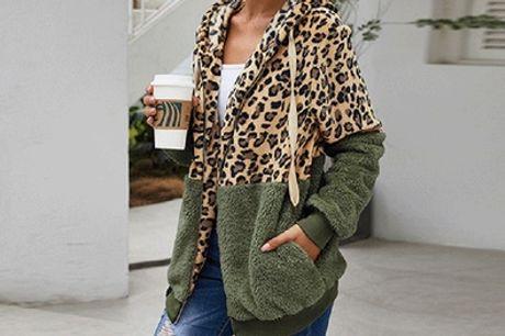 Sudadera con estampado de leopardo