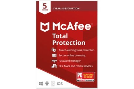 McAfee Total Protection 2021 5 Devices for 1 Year