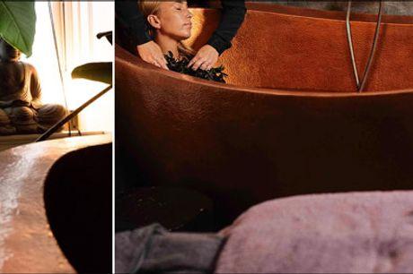 Eksklusiv Spaoplevelse for 2 personer - 80 minutters Mini Lava Spaoplevelse for 2 personer med bla. Hotstone massage, infrarød sauna og varmt bad i det berømte kobberbadekar m.m. Værdi kr. 2970,-