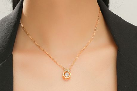 £8.99 instead of £50 for a crown pendant necklace from My Crystal Cloud - save 82%