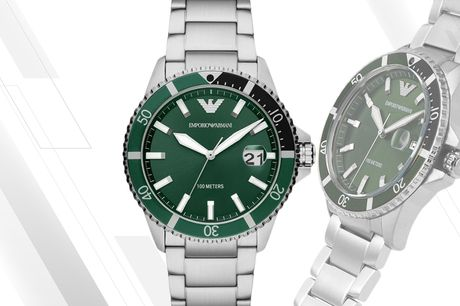 £119 instead of £229 for a men's stainless steel Emporio Armani watch from CJ Watches - save 48%