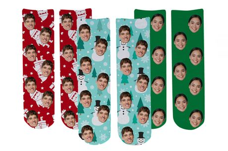 £7.99 instead of £17.99 for one pair of personalised photo socks or £13.99 for two pairs from Deco Matters - save up to 56%