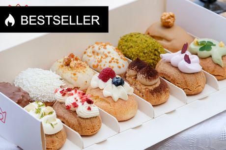 12 mini-éclairs fra Queen's Delight. Forsød din fest eller fredag: Københavns smukkeste kager!