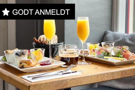 Velanmeldt: Brunch og mimosa Et stenkast fra Trianglen og Fælledparken. Ægte fransk perle, som serverer fransk som man gør det i Paris. Tag plads ude eller inde og glæd dig til en brunchtallerken, der sender dine smagsløg en tur til Frankrig. Vælg mellem:
